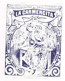 La Carmencita Cigarette Package Label - Mexico