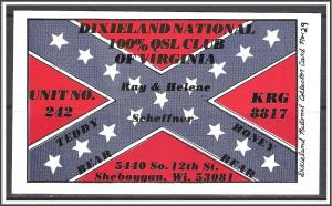 Wisconsin, QSL Ham Radio Dixieland National Club - (MX-006)