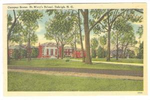 Campus Scene, St. Mary's School, Raleigh, North Carolina, 1930-1940s