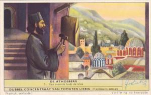 Liebig S1651 Mount Athos No 5 Een monnik luidt de klok