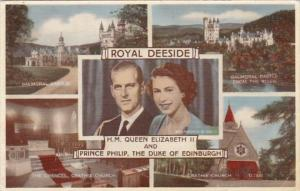 Royal Deeside Multi View & Queen Elizabeth II and Prince Philip The Duke Of E...