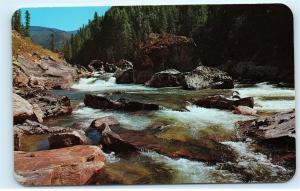 *Selway Falls Selway River Idaho Salmon Run Fishing Vintage Postcard A6