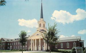 Sioux Falls South Dakota~First Baptist Church~White Columned Entrance~1960s