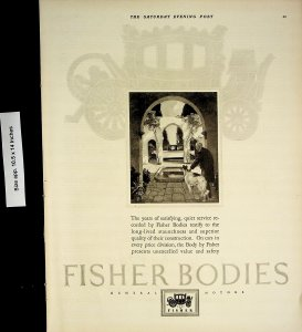 1926 Fisher Bodies Car Division Auto Body Car Vintage Print Ad 4483