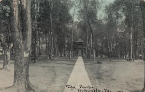 NOKOMIS , Illinois , PU-1912 ; City Park