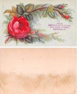 Approx Size Inches = 2.25 x 3.75  Tradecard