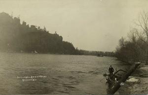 Necedah, Wisconsin, Petenwell Rock and Bridge (1910s) RPPC