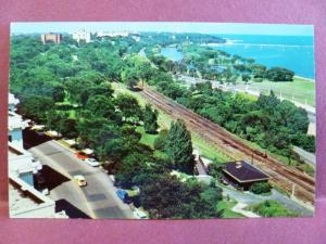 Postcard WI Milwaukee View of Lake Front