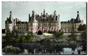 Old Postcard Chateau De Chambord Facade And Gardens Of The Cosson