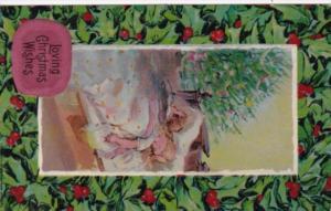 Christmas Children Sleeping By Christmas Tree 1910