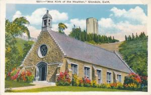 Glendale California Cemetery - Wee Kirk of the Heather - pm 1932 - WB