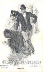 Artist Signed Howard Chandler Christy, Arbutus Unused light indentation in card