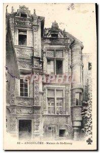 Postcard Old Angouleme House St Simon