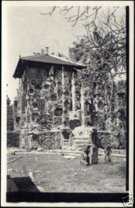 indonesia, BALI, Shrine of Village Temple (1940s) RPPC