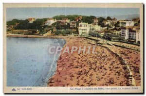 Old Postcard Dinard Beach is the Bath Time view from the Crystal Hotel