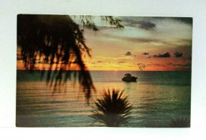 Bimini Bahamas Sunset Postcard