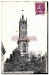 Old Postcard Valenciennes Tower Saint Gery