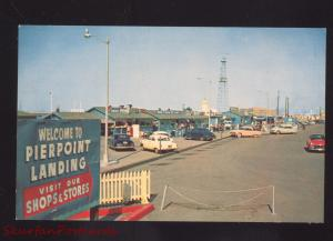 LONG BEACH CALIFORNIA PIERPOINT LANDING 1950's CARS VINTAGE