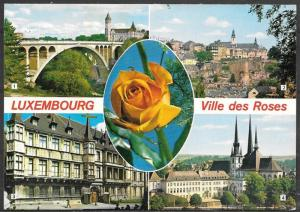 Luxembourg, Ville des Roses, multiview, unused