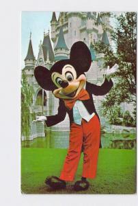 VINTAGE POSTCARD WALT DISNEY WORLD MICKEY IN FRONT OF CINDERELLA'S CASTLE #1