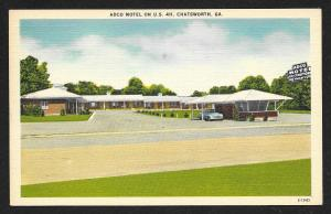 Adco Motel on US 411 Chatsworth Georgia Unused c1950s