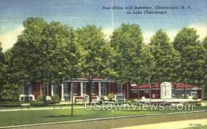 Post Office Chautauqua Lake NY Unused