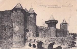 France Carcassonne Le Chateau feodal Entree principale