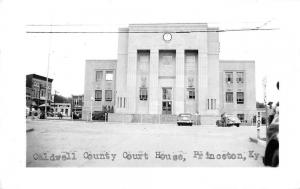 Princeton Kentucky outside Caldwell Co Court House real photo pc Z12048