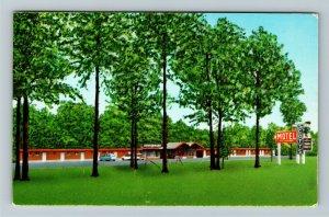 Newton Falls OH- Ohio, Scott's Motel, Advertising, Panoramic, Chrome Postcard