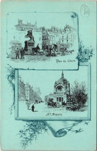 CPA PARIS 2e - Place des Victoires St. Augustin (57600)