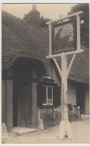 Hampshire; Sign Post, Cat & Fiddle Inn, Hinton RP PPC, c 1920's, Unused, Bikes