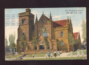 SALT LAKE CITY UTAH FIRST PRESBYTERIAN CHURCH VINTAGE POSTCARD MIAMI MISSOURI
