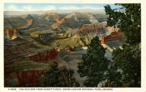 AZ - Grand Canyon National Park. Outlook from Hermit's Rest  (Fred Harvey)