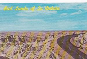 Road Scene Badlands Of South Dakota