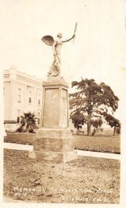 D90/ Fairfield California Ca Postcard Real Photo RPPC c1920s Memorial World WarI