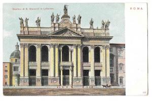 Italy Rome Basilica Giovanni in Laterano Vntg UND Postcard