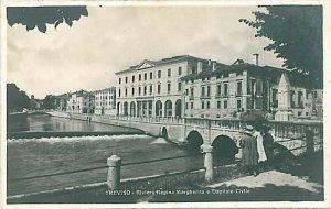 09586 - CARTOLINA d'Epoca - TREVISO - RIVIERA REGINA MARGHERITA