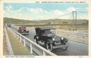 Tijuana Baja California Mexico 1920-30s Postcard Bridge Over Tijuana River