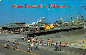 Wildwood, New Jersey, NJ, USA Postcard Boardwalk 1985