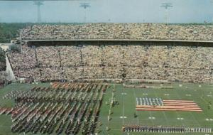 MIAMI , Florida , 1950-60s ; Orange Bowl Stadium at half Time