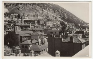 Gibraltar; South View Of The Town No 22 RP PPC By Rex, Unused, c 1930's
