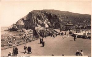 Capstone Hill & Parade, Ilfracombe, England, Early Sepia Postcard, Unused