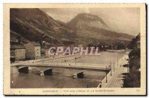 Old Postcard Grenoble Isere View and Saint Eynard