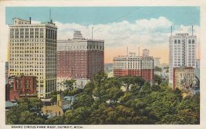 DETROIT, Michigan, PU-1922;  Grand Circus Park West