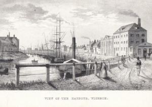 Wisbech Victorian Harbour Ships Cambridge Postcard