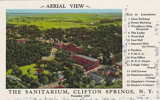 Aerial view, The Sanitarium Clifton Springs, New York,  00-10s