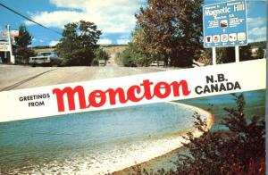 Greetings from Moncton NB, New Brunswick, Canada - Magnetic Hill and Tidal Bore