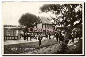 Old Postcard Deauville La Plage Fleurie Clairefontaine Racecourse Horse Racin...