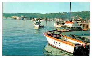 1950s/60s Port Jefferson Harbor, Long Island, NY Postcard