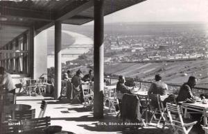 WIEN VIENNA AUSTRIA WIEN BLICK v d KAHLENBERGTERRA PHOTO POSTCARD 1956